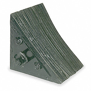"Black Wheel Chock, Laminated Rubber, 7"" Width, 7-1/2"" Depth, 7-1/2"" Height"