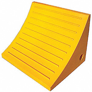 Wheel Chock, General Purpose, Style: Single, Urethane