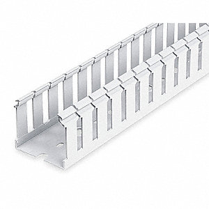 "Wiring Duct, White, 6 ft. Length, 4.25"" Width, 0.30"" Slot Width"