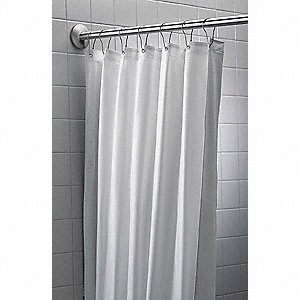 BRADLEY X 42 72 Nylon Vinyl Shower Curtain White