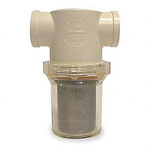 "50 Mesh T-Line Strainer, 304 Microns, 3/8"" Pipe Size"
