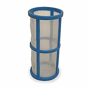 "3-3/4"" Polypropylene Filter Screen with 17.33 sq. in. Screen Area, White/Blue"