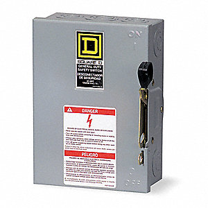 Safety Switch, 1 NEMA Enclosure Type, 200 Amps AC, 60 HP @ 240VAC HP