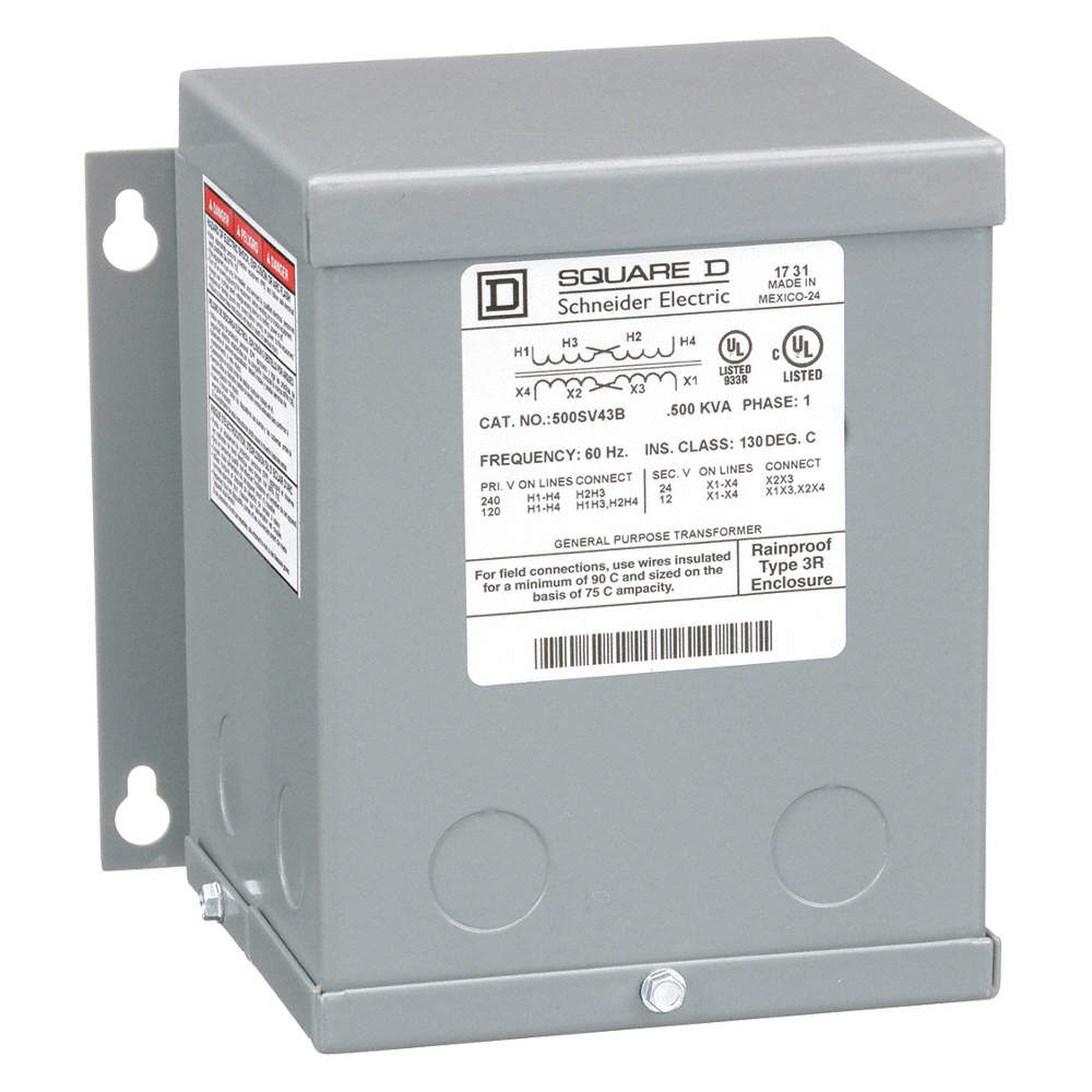 500VA Buck Boost Transformer, Input Voltage: 120VAC, 240VAC, Output  Voltage: 12VAC, 24VAC