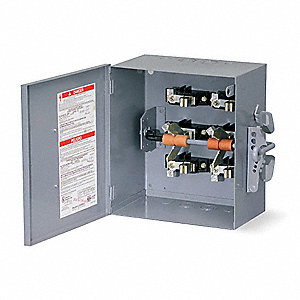 Safety Switch, 1 NEMA Enclosure Type, 200 Amps AC, 15 HP @ 240VAC HP