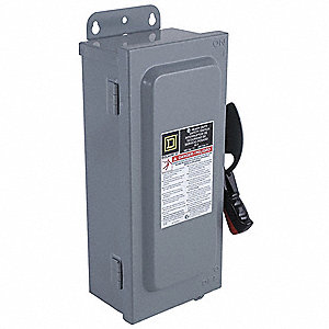 Safety Switch, 1 NEMA Enclosure Type, 60 Amps AC, 30 HP @ 600VAC HP