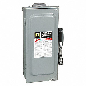 Safety Switch, 3R NEMA Enclosure Type, 30 Amps AC, 15 HP @ 600VAC HP