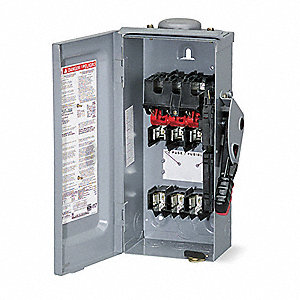 Safety Switch, 3R NEMA Enclosure Type, 60 Amps AC, 7-1/2 HP @ 240 VAC HP