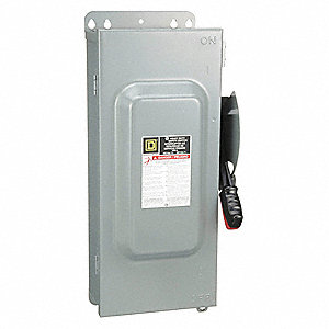 Safety Switch, 3R, 12 NEMA Enclosure Type, 100 Amps AC, 60 HP @ 600VAC HP