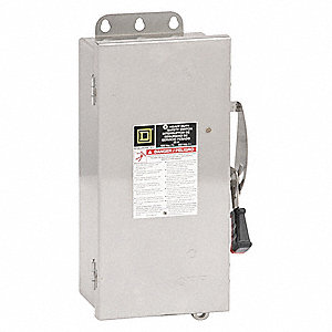 Safety Switch, 4, 4X, 5 NEMA Enclosure Type, 30 Amps AC, 15 HP @ 600VAC HP