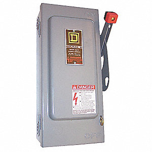 Safety Switch, 3, 3R, 4, 4X, 12 NEMA Enclosure Type, 60 Amps AC, 30 HP @ 600VAC HP