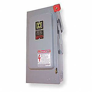 Safety Switch, 4, 4X, 5 NEMA Enclosure Type, 200 Amps AC, 125 HP @ 600VAC HP