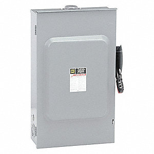 Safety Switch, 3R NEMA Enclosure Type, 200 Amps AC, 125 HP @ 600VAC HP