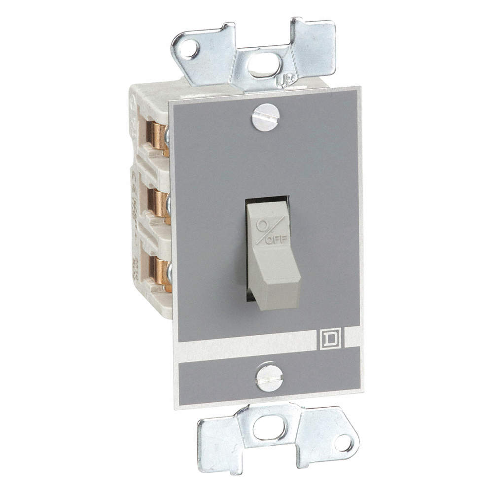 SQUARE D Manual Motor Switch, 30 Amps AC, Toggle Operator - 1H405 ...