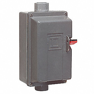 Push Button Manual Motor Starter, Enclosure NEMA Rating 4, 4X, 18 Amps AC, NEMA Size:M-0