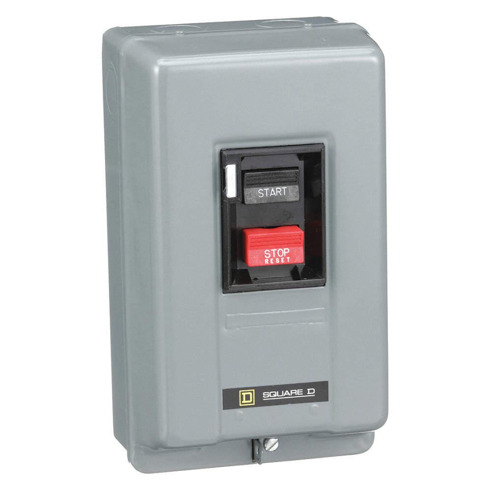 Push Button Manual Motor Starter, Enclosure NEMA Rating 1, 30 Amps AC, NEMA  Size:M-1