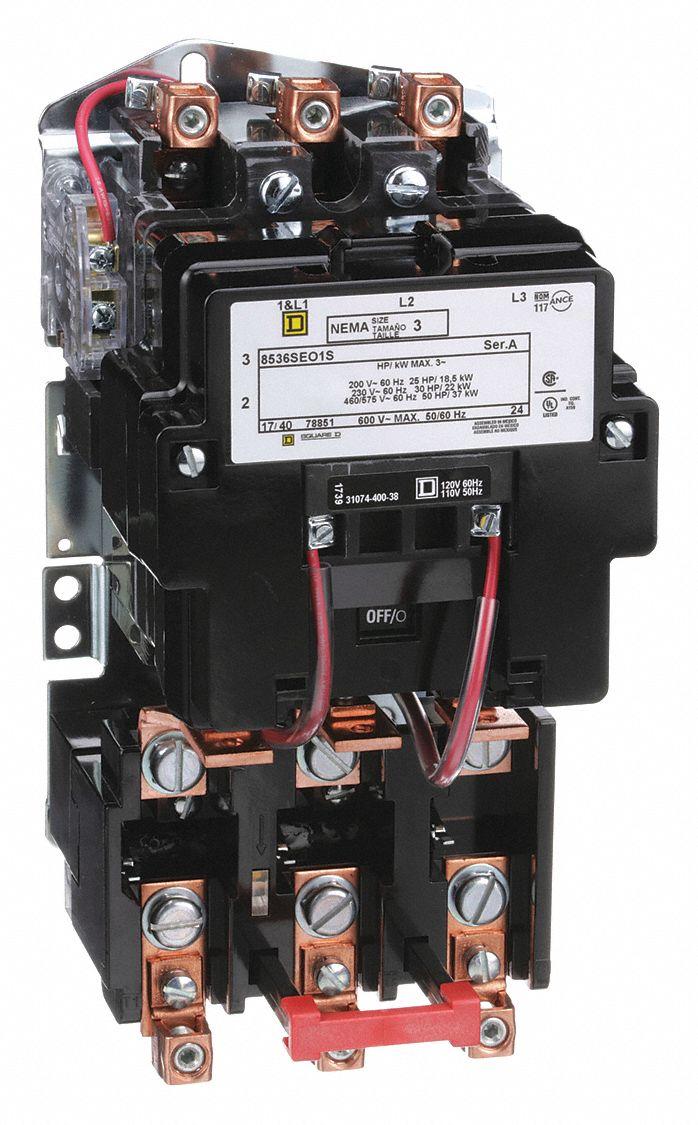 Square D Magnetic Motor Starter 120v, Square D Magnetic Starter Wiring Diagram
