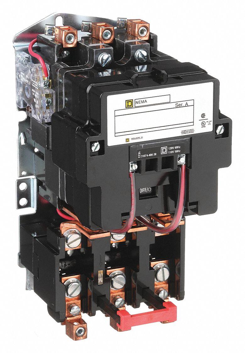 Square D Magnetic Motor Starter  120v Ac Coil Volts  Nema