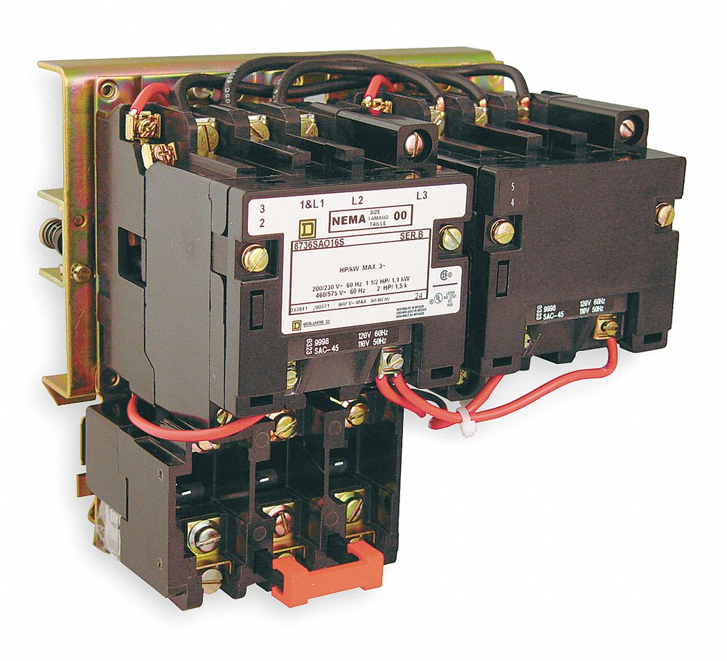 Square d motor starter usa for Sizing motor starters and overloads