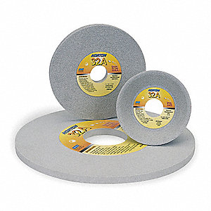 "8"" Straight Grinding Wheel, 1"" Thickness, 1-1/4"" Arbor Size, Medium (I), Toolroom, Aluminum Oxide"