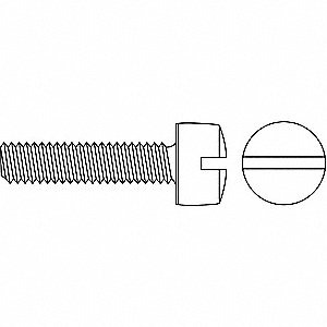 #6-32 Machine Screw with Fillister Head Type, Zinc-Plated Finish, Carbon Steel, 100 PK