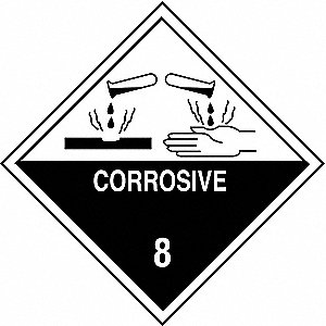 DOT Container Label,  Container Label/Placard Type Hazardous Class