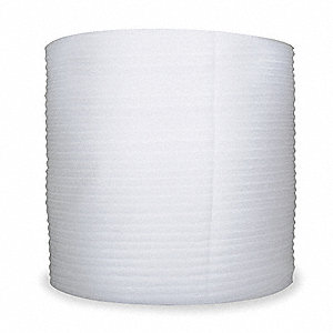 "Polypropylene Foam Roll, 12""W x 900 ft., White, Perforated: Yes, Perforation Increments: 12"""