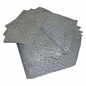 "19"" x 15"" Heavy Absorbent Pad for Universal/Maintenance, Gray, 100PK"