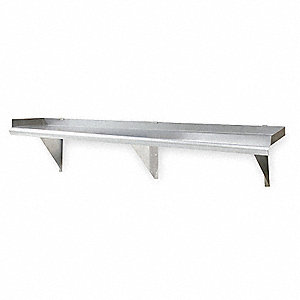 "36"" x 12"" x 1-1/2"" Stainless Steel Shelf, Gray"