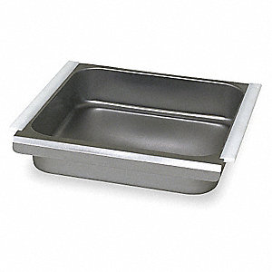 "20"" x 20"" x 5"" Stainless Steel Drawer, Gray"