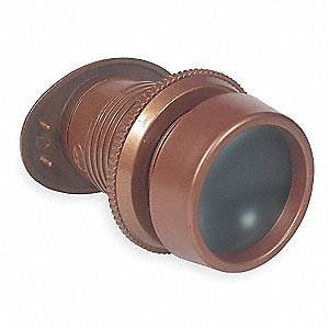 Bronze Door Viewer, Viewing Angle 160°, Mounting Hole Dia. 1-1/2""