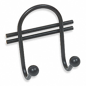 Screw Mount Coat/Hat Hook, 1 Hook(s), Steel, 1 EA