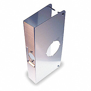 "Door Reinforcer, Stainless Steel, 1-3/4"" Door Thickness, Backset 2-3/4"""