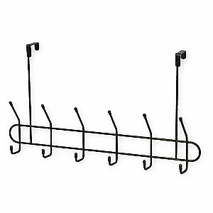 Coat and Garment Hook,12 Ends,Black