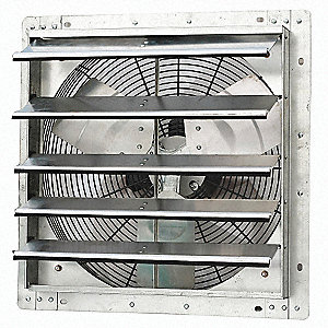 Exhaust Fan,18 In,115V,1/15hp,1075rpm