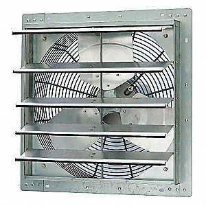 Shutter-Mounted Exhaust Fans