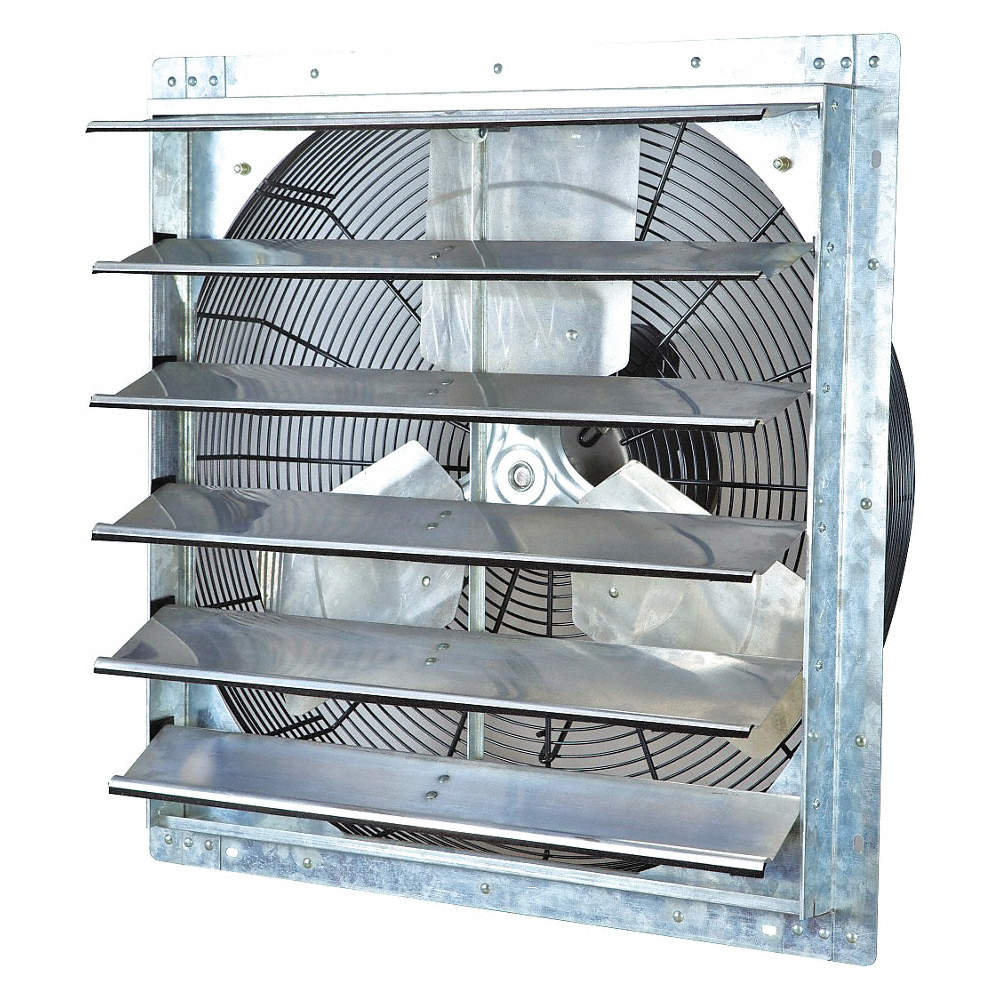 """All Guard Shutters 1/4 hp 24""""-dia. 115vacv shutter mount exhaust fan, 25"""" square opening  required"""