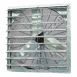 "36"" Shutter Mount Exhaust Fan, Voltage 115V, Motor HP 1/2"