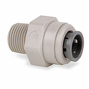 "Acetal Copolymer Male Adapter, 1/4"" Tube Size"