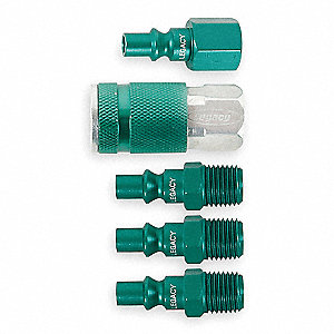 COUPLER/PLUG KIT ,1/4 NPT,,GREEN,AR