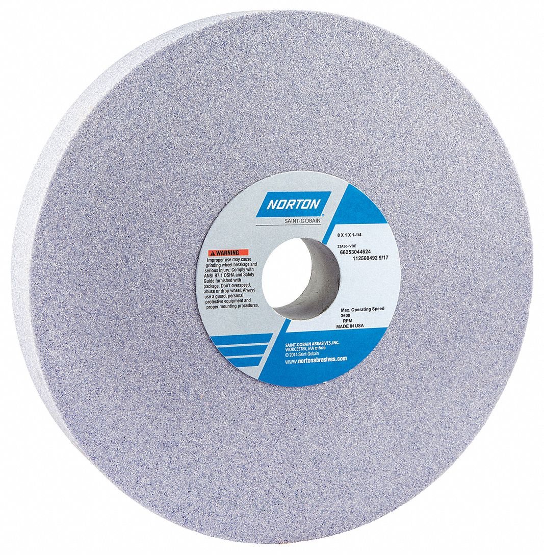 1 Thick 3 Hole Size 60 Grit 38A Aluminum Oxide K Hardness Type 1 Surface Grinding Wheel Norton 10 Dia
