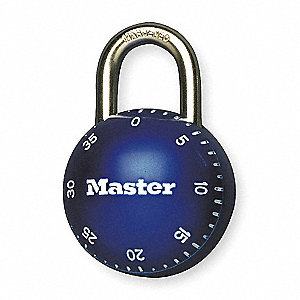 "Combination Padlock Center-Dial Location, 11/16"" Shackle Height"