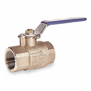 Brass Ball Valve,Inline,FNPT,3/8 in