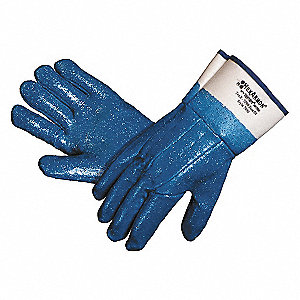 Cut Resistant Gloves,Blue/White,L,PR