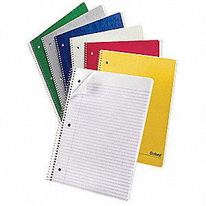 Notebook,11x8 7/8,White,PK6