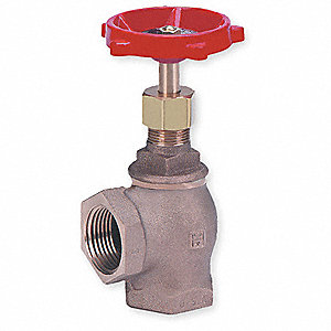 Angle Globe Valve,Class 125,1-1/4 In.