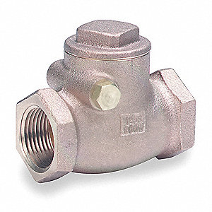 "1"" Swing Check Valve, Bronze, FNPT Connection Type"