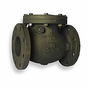 SWING CHECK VALVE,4 IN,FLANGED,CAST