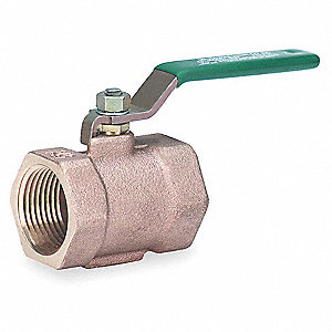 Disc Valve,1 Pc,1-1/2 In,Bronze,FNPT