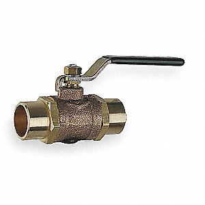 "Butterfly Disc Valve, Bronze, 175 psi, 1/2"" Pipe Size"